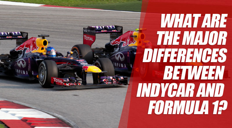 What are the major differences between IndyCar and Formula 1?